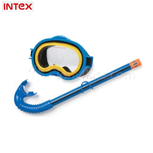 Intex - Подводни очила с шнорхел сини 55942