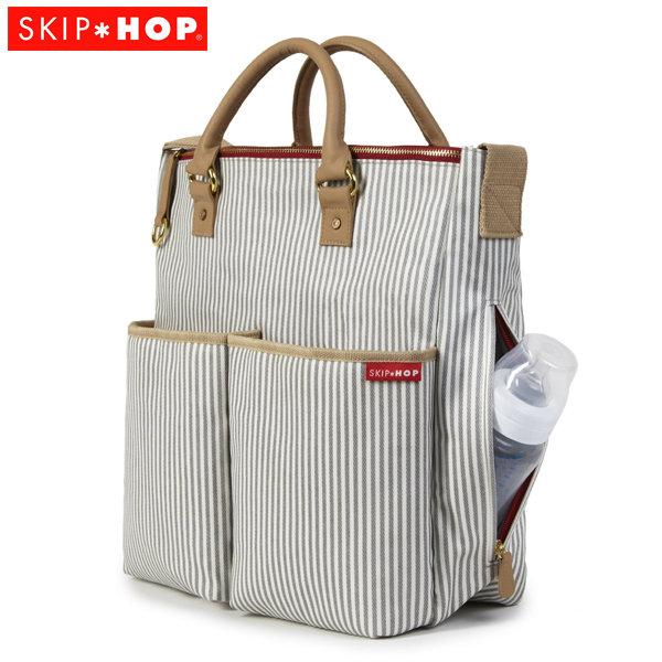 Skip Hop - Чанта за разходки с подложка за повиване Duo Spec Edition French Stripe 200037