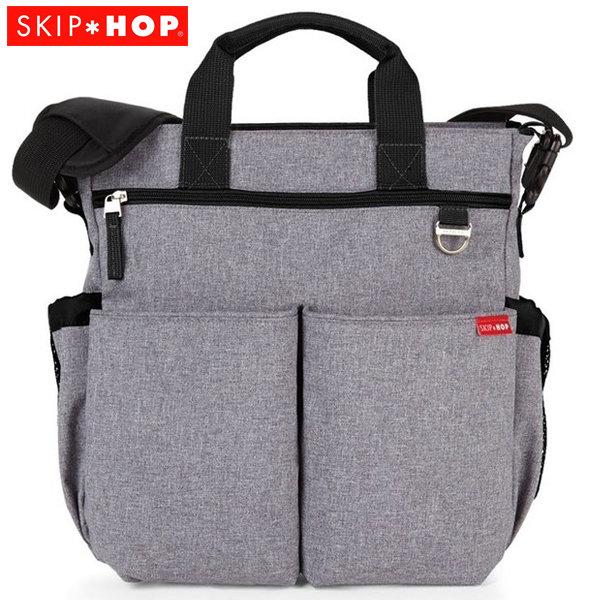 Skip Hop - Чанта за разходки с подложка за повиване Duo Signature Сив меланж 200301