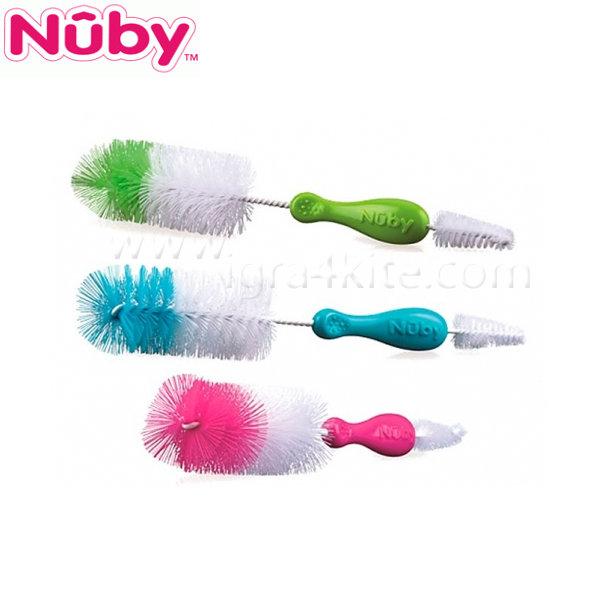 Nuby - Четка за почистване на шишета и биберони