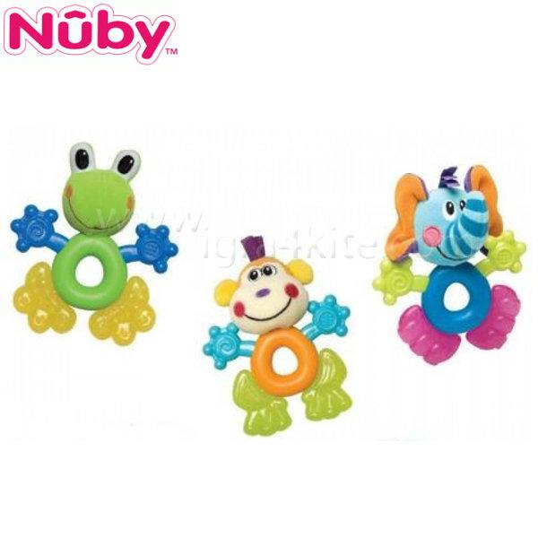 Nuby - Плюшена дъвкалка с Ice гел - жаба