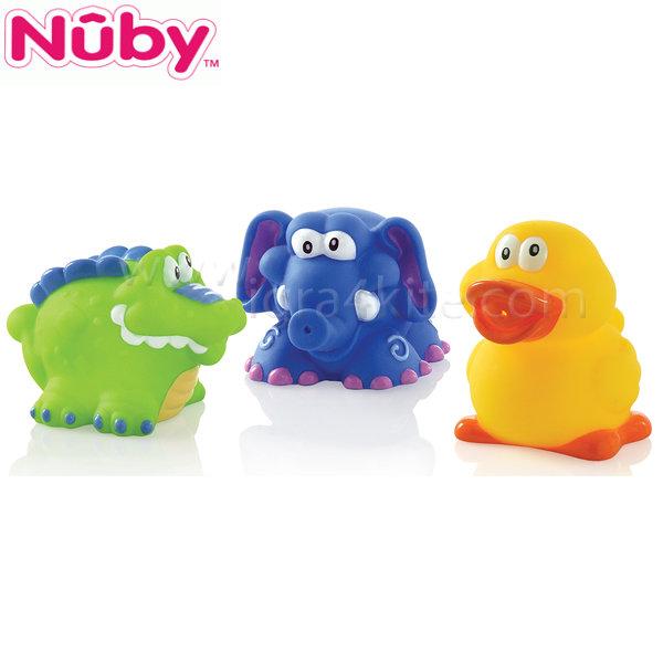 Nuby - Играчки за баня - 3 бр. Животни