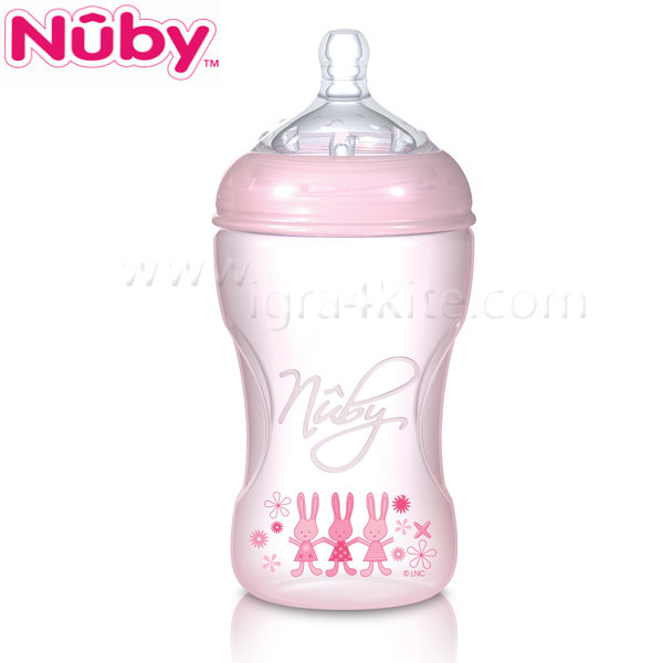 Nuby - Шише Natural Touch 330 мл. - розов