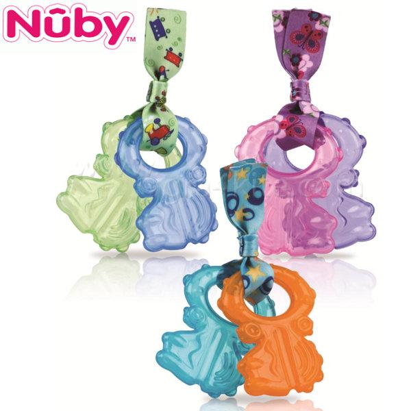 Nuby - Дъвкалки ключове с Ice гел и текстилна връзка