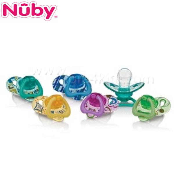 Nuby - Анатомична силиконова залъгалка (0-2м)