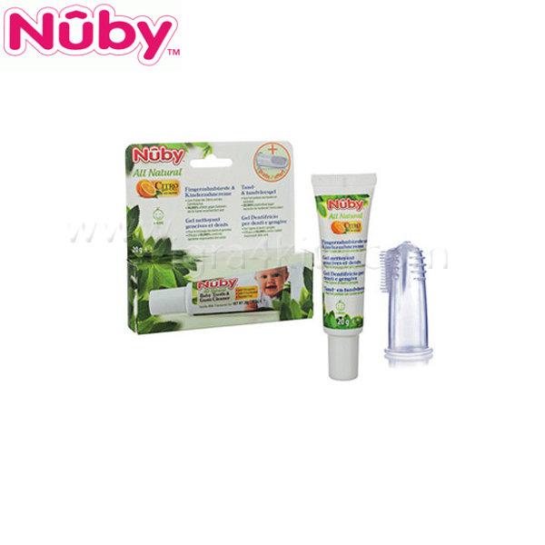 Nuby - Паста за зъби + накрайник