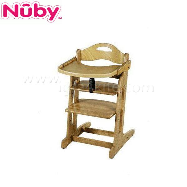 Nuby - Дървен стол за хранене Beta