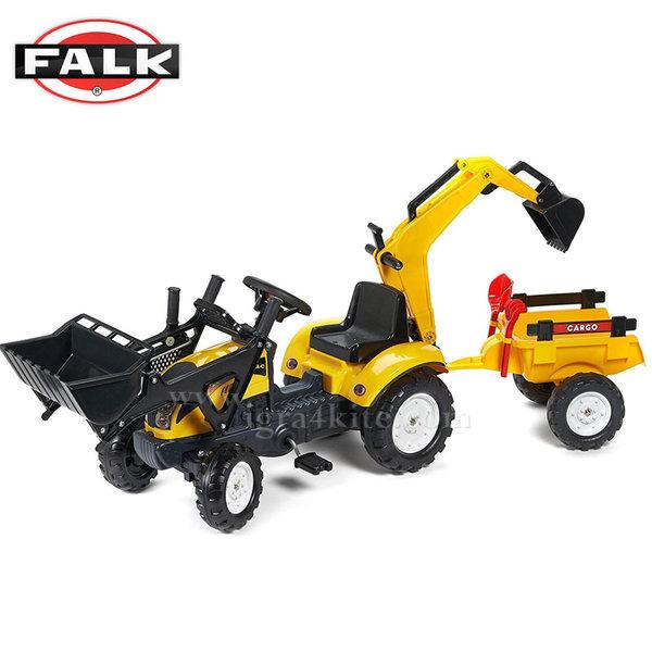 Falk - Детски трактор с ремарке и две лопати Ранчо 2055cn