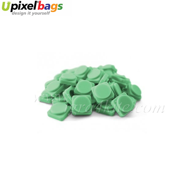 Upixel - Големи пиксел чипове - синьо-зелено