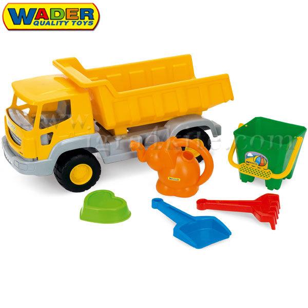 Wader - Камион самосвал - плажен комплект 70370