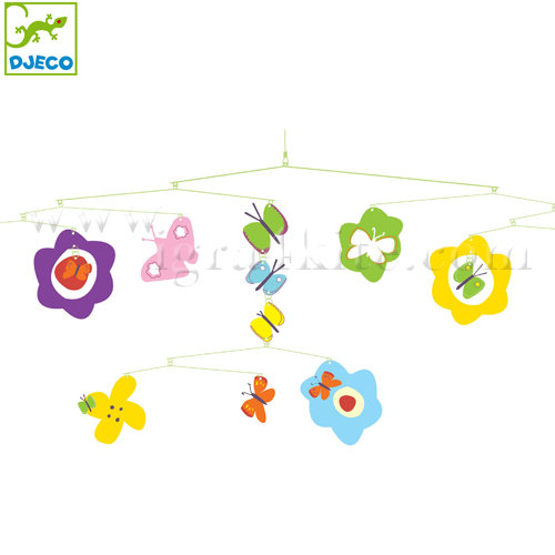 "Djeco - Висяща декорация за детска стая ""Пеперуди"" DD04313"