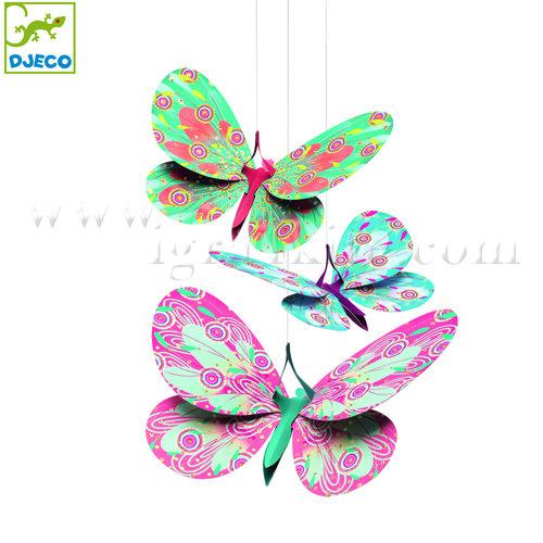 """Djeco - Стикери за декорация на стена """"Висящи пеперуди"""" DD04957"""