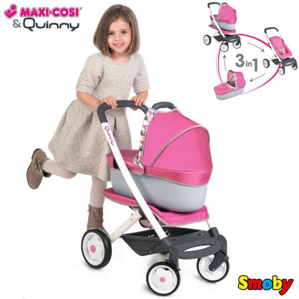 Smoby - Количка за кукла Maxi Cosi & Quinny 7600253197