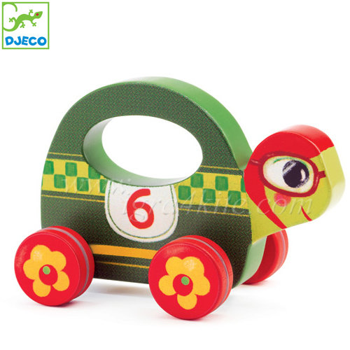 Djeco - Дървена играчка за бутане Скорострелко 6272