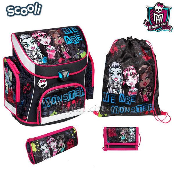Scooli Monster High - Ученическа ергономична раница Монстър Хай 25038