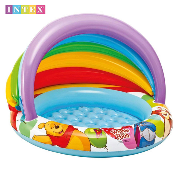 Intex - Детски басейн със сенник Мечо Пух 57424