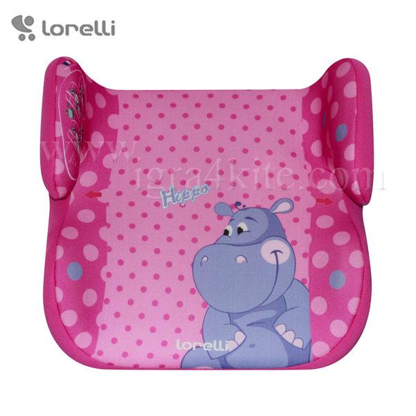 Lorelli - Стол за кола TOPO COMFORT PINK HIPPO 15-36кг.