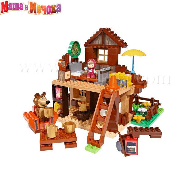 BIG Маша и Мечока - Конструктор Къщата на Маша, 162 части 57098