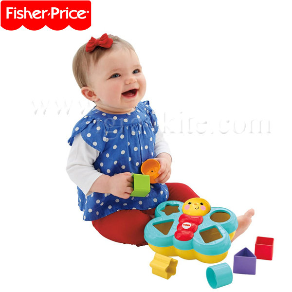 Fisher Price - Играчка за сортиране на формички Пеперуда CDC22