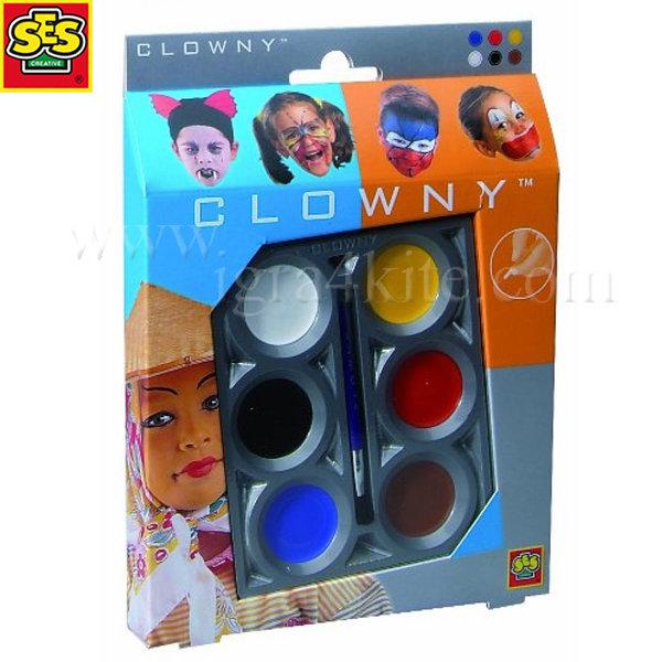 SES Creative - Комплект бои за лице 6 цвята 09661