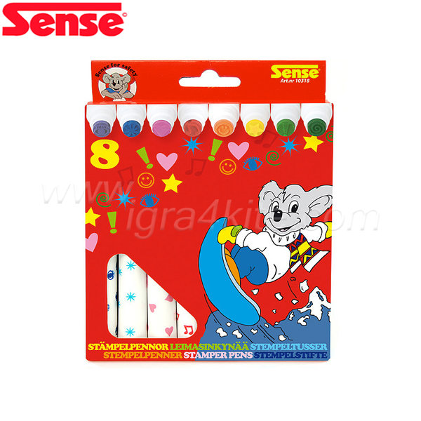 Sense - Маркери с печати - 8 броя 10318