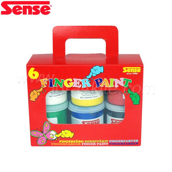 Sense - Боички за рисуване с пръсти - 6 броя 10980