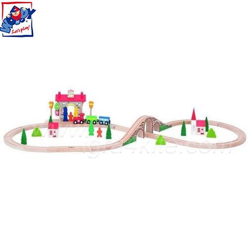 Woody - Дървен влак с релси със звук и светлина 90587