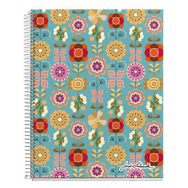 Jordi Labanda - Floral Тетрадка спирала А4 120л, квадратчета 24430