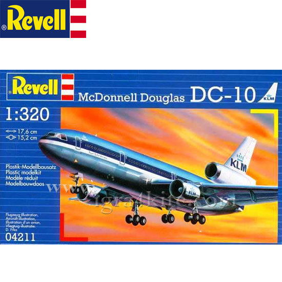 Revell - Пътнически самолет Мак Донел Дъглас DC-10