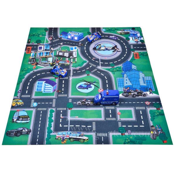 iMat - Килимче за игра с колички Полиция 80х70 237822
