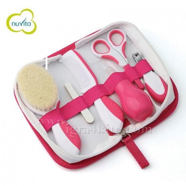 Nuvita - Комплект за грижа за детето розов 11362