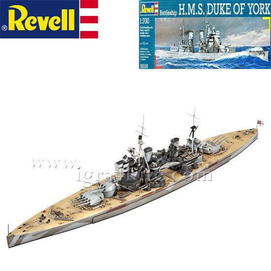 Revell - Военен кораб H.M.S. Дука от Йорк