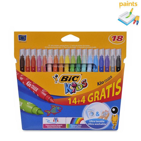 BIC - Флумастери 18 цвята