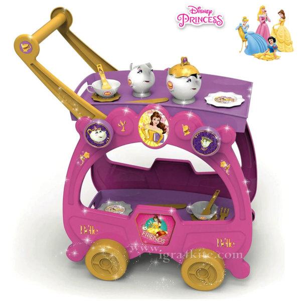 Disney Princess - Детска количка за сервиране 2 в 1 Принцеси 282218