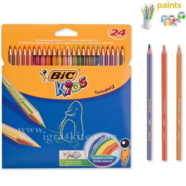 BIC - Цветни моливи 24 цвята