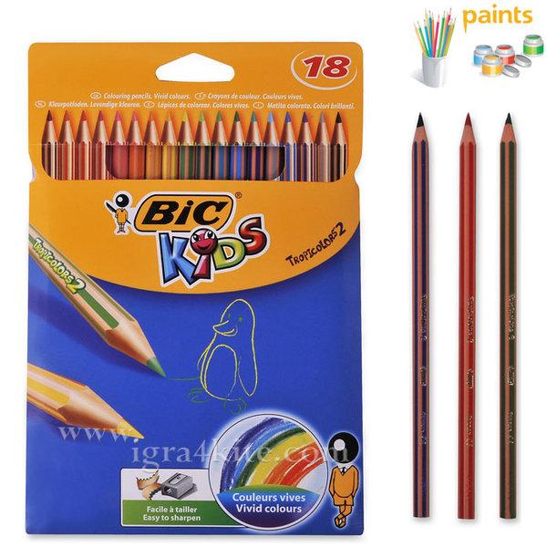 BIC - Цветни моливи 18 цвята