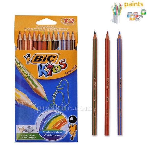 BIC - Цветни моливи 12 цвята