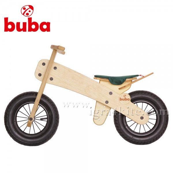 Buba - Детско дървено балансиращо колело Explorer mini зелена седалка
