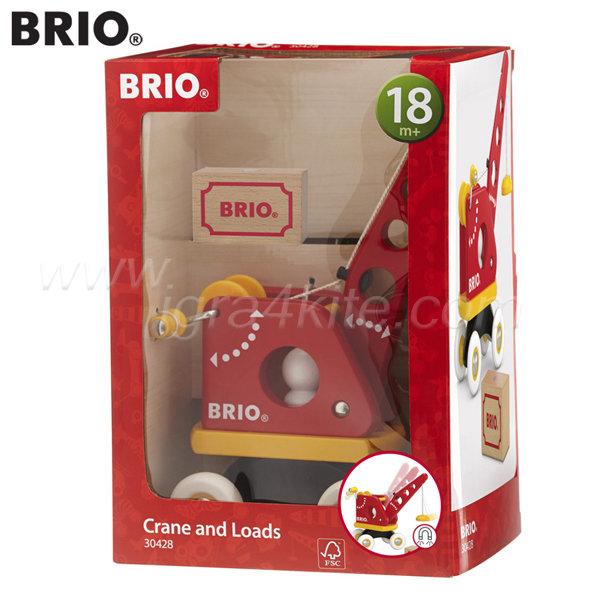 Brio - Играчка движещо се кранче с товар 30428