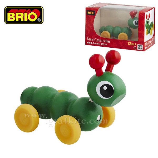 Brio - Мини играчка за бутане Гъсеница с магнит 30330