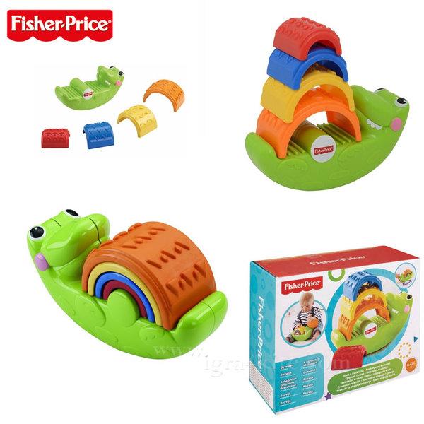 Fisher Price - Крокодил пирамида с форми за нареждане cdc48