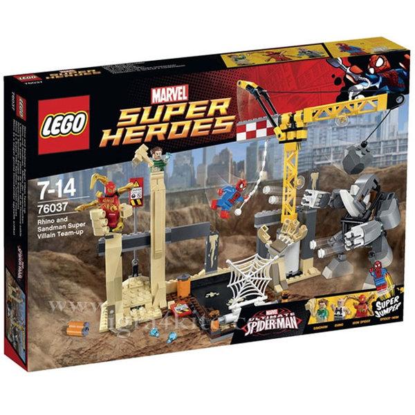 Lego 76037 Super Heroes - Spiderman Съюзяване на Рино и Пясъчния човек