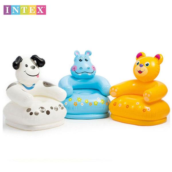 Intex - Детско надуваемо столче HAPPY ANIMAL 68556