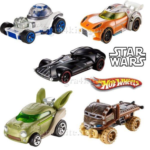 Hot Wheels Star Wars - Междузвездни войни Герои - Коли  1:64 CGW35