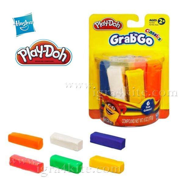 PlayDoh - Комплект 6 цвята пластелин Плейдо a2763