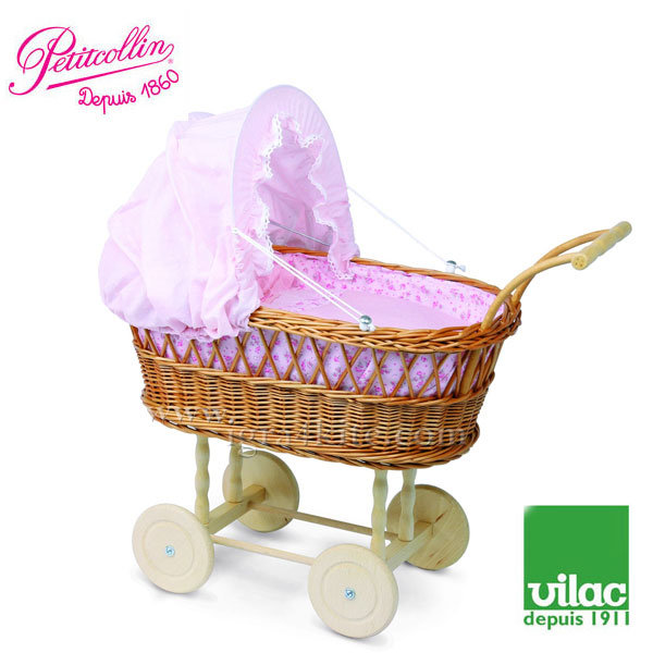 Vilac - Petitcollin Детска ретро количка за кукли 800198