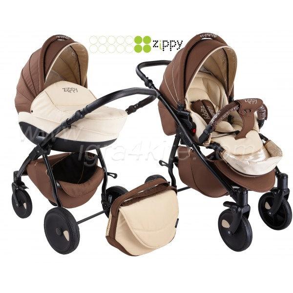 Zippy - Natural бебешка количка 2в1 кафява