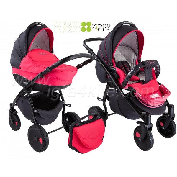 Zippy - Natural бебешка количка 2в1 розова