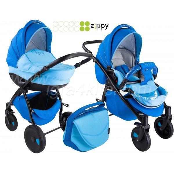 Zippy - Natural бебешка количка 2в1 синя