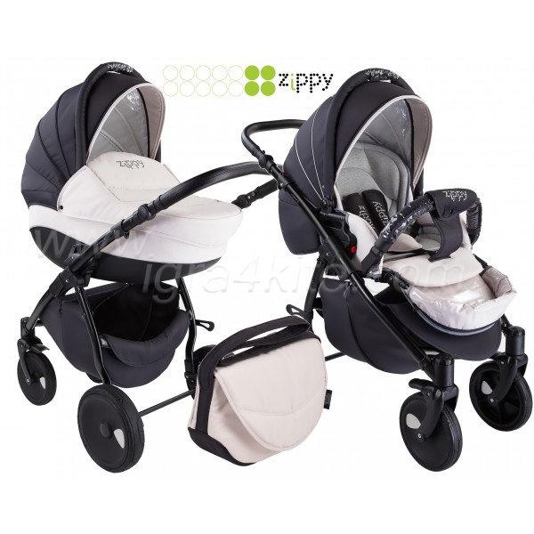 Zippy - Natural бебешка количка 2в1 черно със бяло